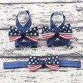 1 Conjunto Bebê Headbands & Sapatos Da Bandeira Americana Set, Presentes do Chuveiro do bebê, Botas de Bebé,, batismo Sapatos, Acessórios Para o cabelo