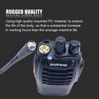 מכשיר הקשר 3pcs Baofeng BF-888S מכשיר הקשר BF 888s Ham Radio האוזניות 5W 400-470MHz UHF FM משדר רדיו דו כיווני Comunicador (5)
