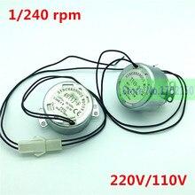 2 Pcs Automatische Incubator Motor 1/240Rpm Ei Draaien Motor Voor Incubator Turn De Eieren Lade 110V / 220V Incubator Accessoires