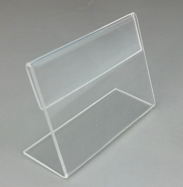 Acrylic Sign Holder Plexigl Slanted Desk Table Price Label Stands Display Stand