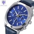 2016 Novo Produto relógios masculinos negócios númeors grandes multifuncional marca de luxo, janela com calendário relógio digital luminoso capa SS masculino