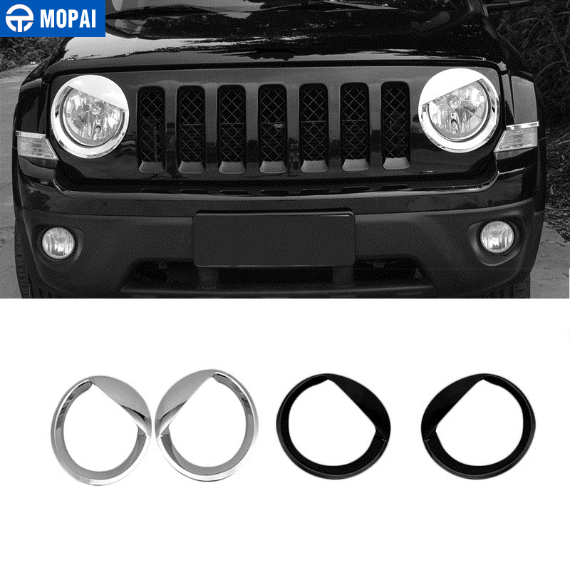 MOPAI ABS Car Exterior Headlight Light Lamp Decoration Cover Trim Stickers for Jeep Patriot 2011 2016 Car Accessories Styling-in Chromium Styling from Automobiles & Motorcycles