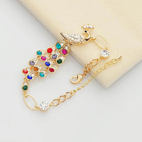 HOT sale exquisite high quality bracelet Elegant sweet and cute crystal peacock bracelet jewelry free shipping SL038