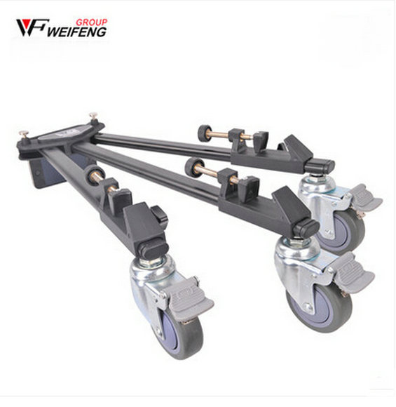 Professional Pro 3 Wheels Pulley Universal Folding Camera Tripod Dolly Base Stand 600 inno fast shipping high quality universal folding tripod dolly with handle heavy duty wt 600 pta3 hot sale