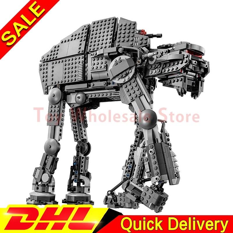 Lepin 05130 The First order heavy assault walker Set 1541Pcs Star Plan Series Building Blocks Bricks Wars Christmas Gifts 75189