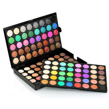 POPFEEL Portable Eye Shadow Makeup Palette Glitter Matte Eyeshadow Make Up Natural Cosmetics Eye Shadow Kits Beauty 120 Colors