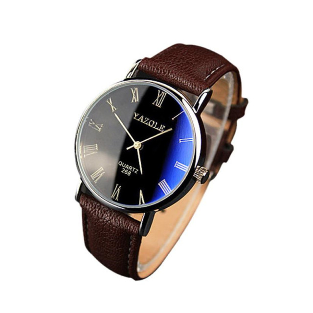 Classic Luxury Fashion Leather Strap Watch Men  5