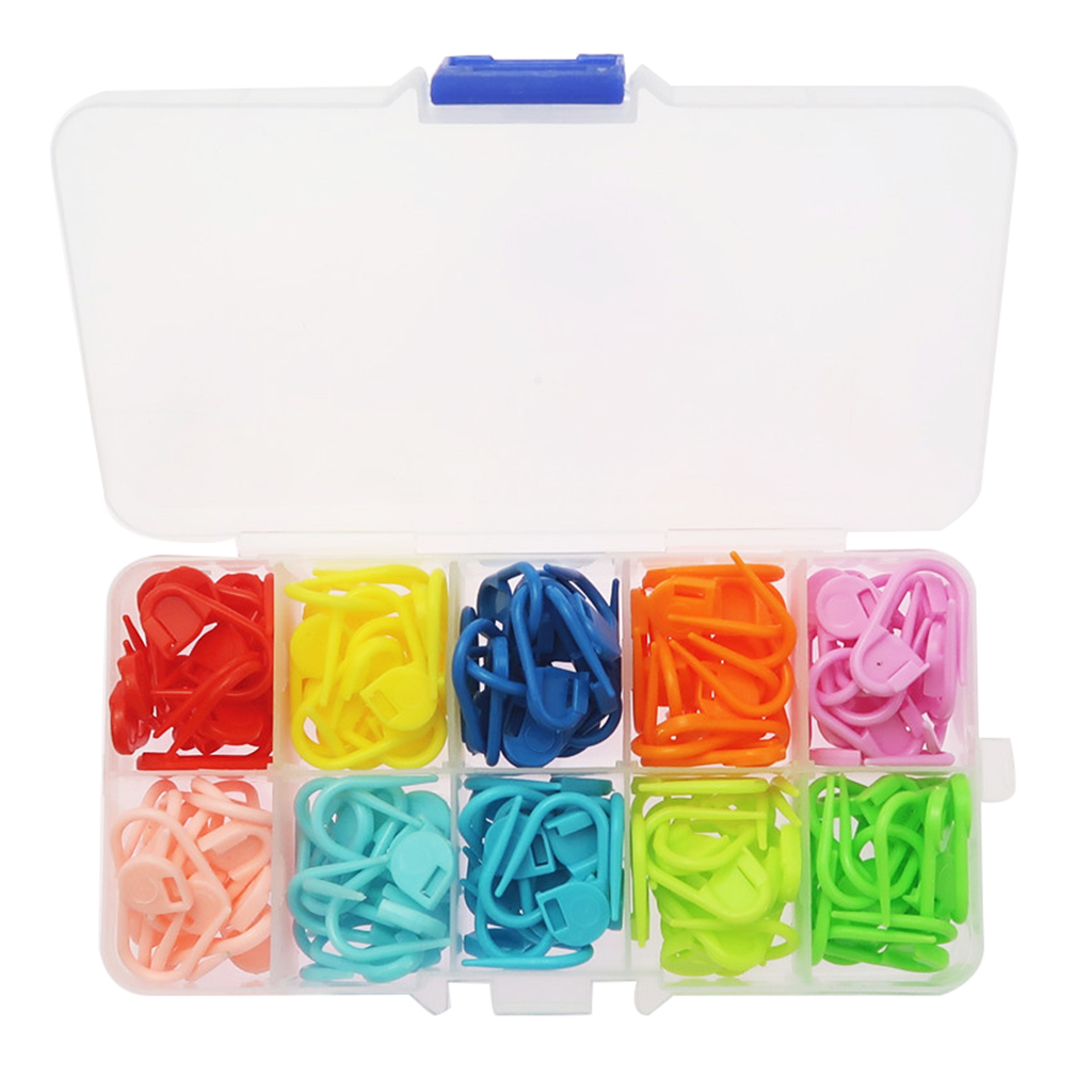 150 Pieces Assorted Color Crochet Locking Stitch Markers Knitting Stitch Counter Needle Clip with Storage Case(China)