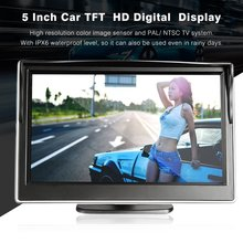 Hot 5 Polegada Car Auto Monitor TFT LCD 5:3 800*480 Tela Digital HD Vista Traseira Backup Reversa Monitor espelho
