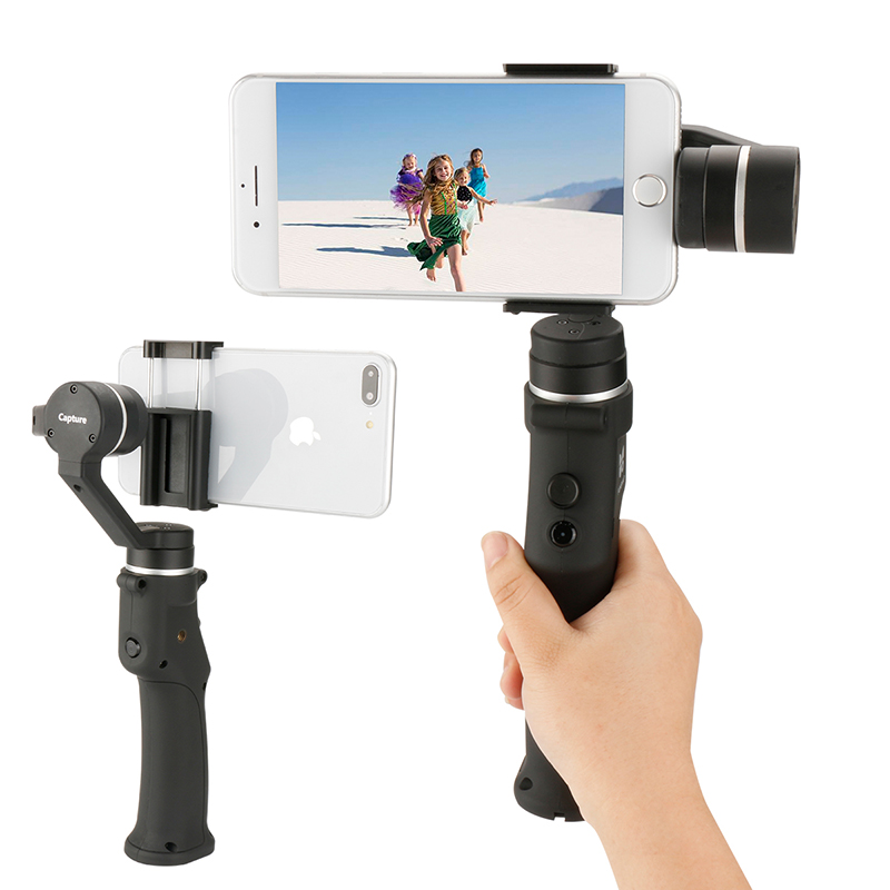 Capture Smartphone Handheld Gimbal for Gopro Bluetooth Remote Stabilizer for iPhone Sport Action Pho