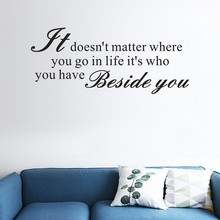 Its Donot Matter Beside Home Decor Wall Sticker Decal Bedroom Vinyl Art Mural Living Room Wall Sticker For Home Removable