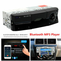 1Din Car Auto Radio AUX Audio AM/FM SD Bluetooth Stereo MP3 Player Stand / Holder for Moible Phone Head Unit