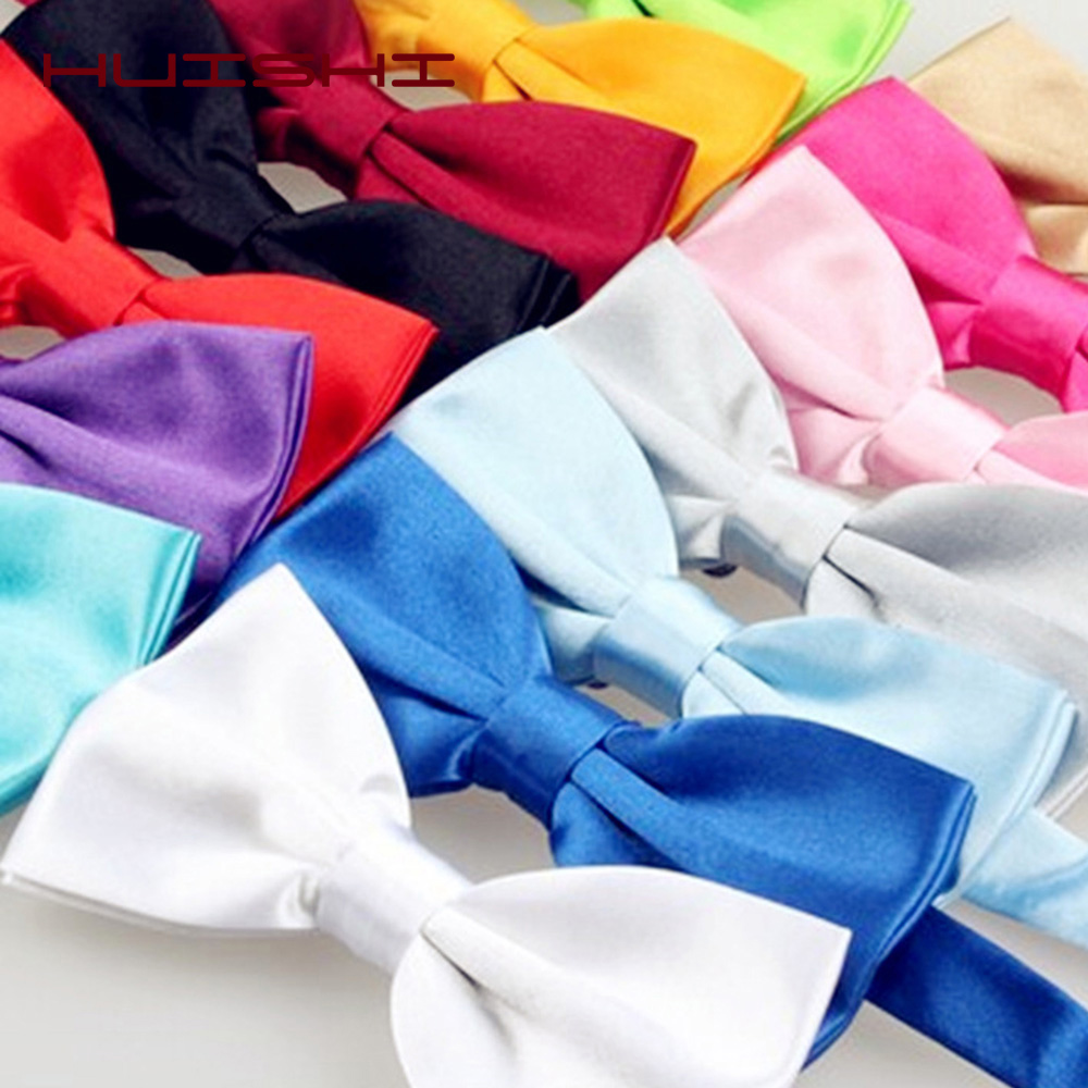 HUISHI Men's Ties White Bow Tie Fashion Tuxedo Mixed Solid Color Butterfly Knot Bow Wedding Party Bowtie Ties For Men Gravata
