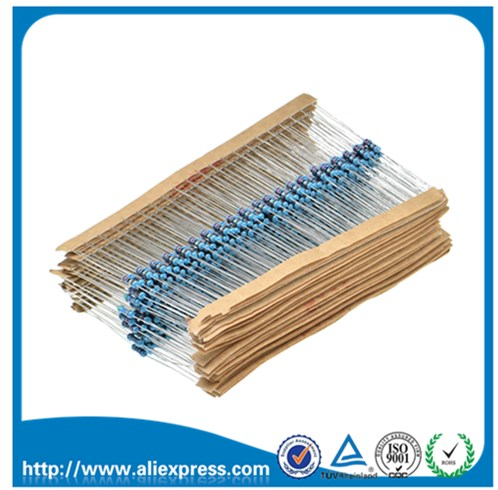 100PCS 1/4W 100R 1/4 Watt 100ohm 100 OHM 0.25W 1% ROHS Metal Film Resistors