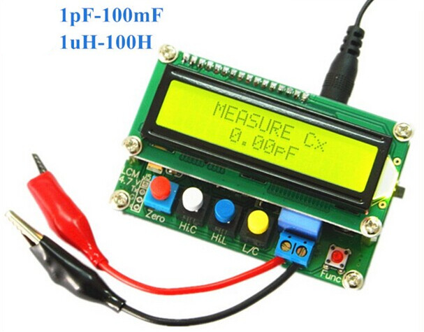 New LC-100A Digital L/C Inductance Capacitance LCD Display Meter High Precision
