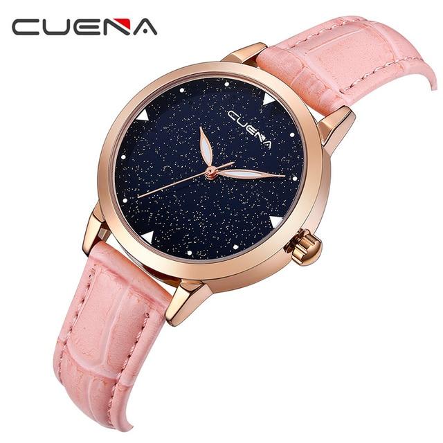 fcc9da7b0fb CUENA Fashion Casual Women Watches Ladies Quartz Watch Top Brand Luxury  Waterproof Wristwatches Relogio Feminino Montre Femme