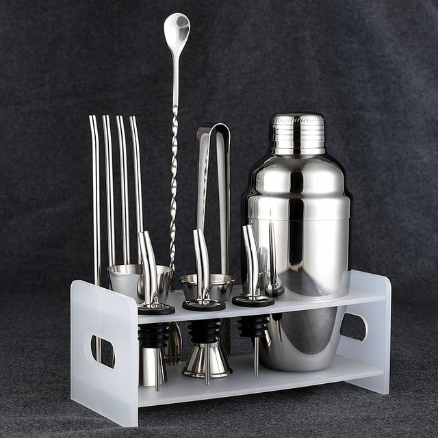 stainless steel cocktail shaker suit cocktail shaker bar tools sets 350/550ml