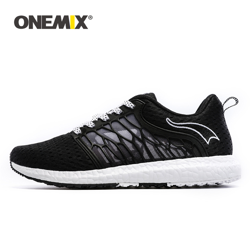 ONEMIX Unisex Running Shoes Breathable Mesh Men Athletic Shoes Super Light Outdoor Women Sports shoes walking