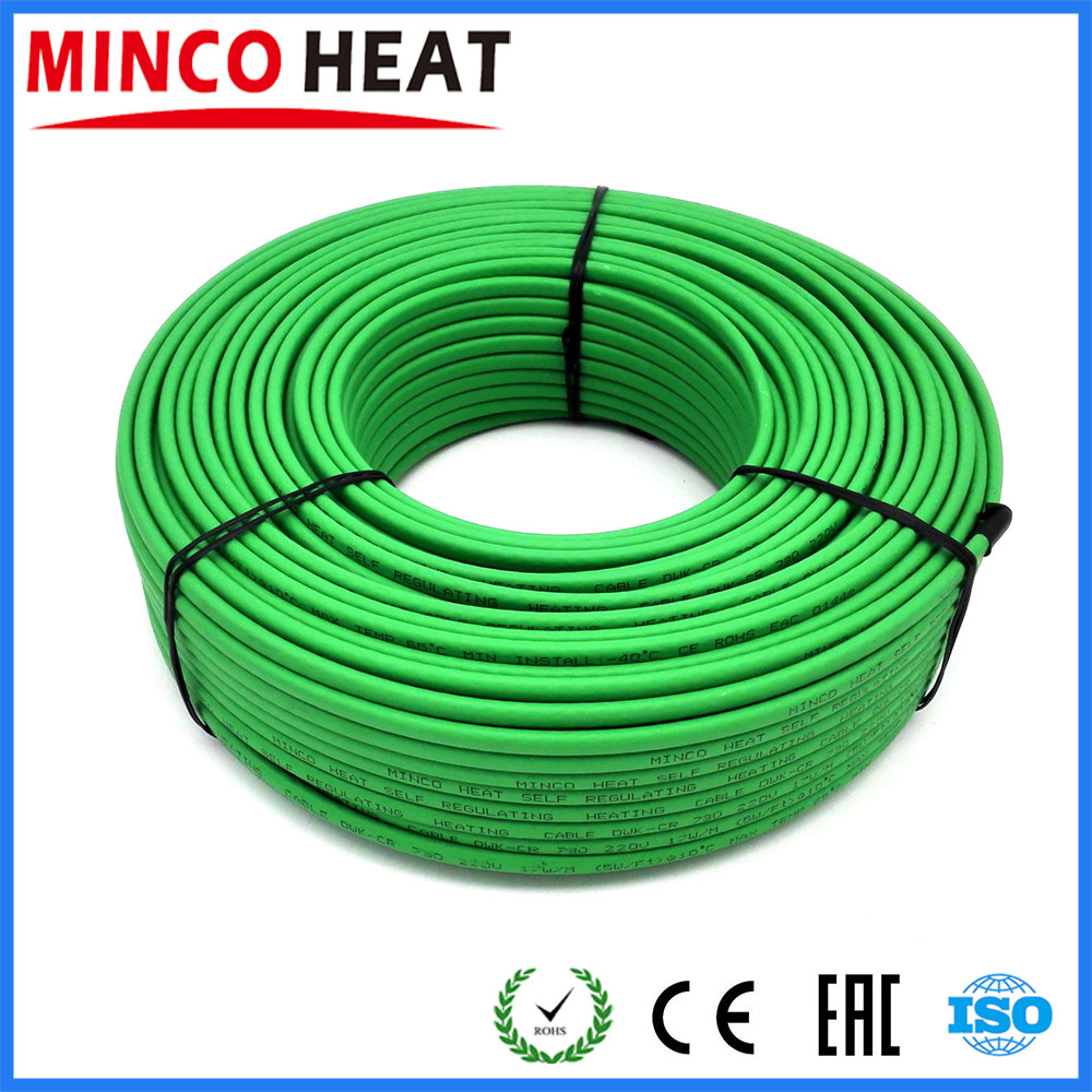 40m 220V 17W m High Quality Weather Resistance Self Regulating Heating Cable For Inside Pipe Heating