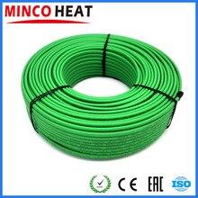 40 متر 110 فولت 220 فولت 17 الوزن/متر جودة عالية الطقس المقاومة الذاتي تنظيم التدفئة كابل ل داخل الأنابيب التدفئة
