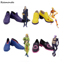 JOJO Bizarre Adventure Rohan Kishibe Cosplay Shoes JOJO Shoes Leone Abbacchio Fugo Leather Shoes Party Man Boys Customized Size