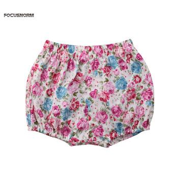 Lato dla dzieci chłopcy dziewczęta spodnie piękny kwiatowy drukowane spodenki dla dzieci bawełna pół spodenki dla dzieci wiosna lato moda krótkie spodnie tanie i dobre opinie FOCUSNORM Shorts COTTON Unisex Floral Wysoka Pasuje prawda na wymiar weź swój normalny rozmiar Szorty