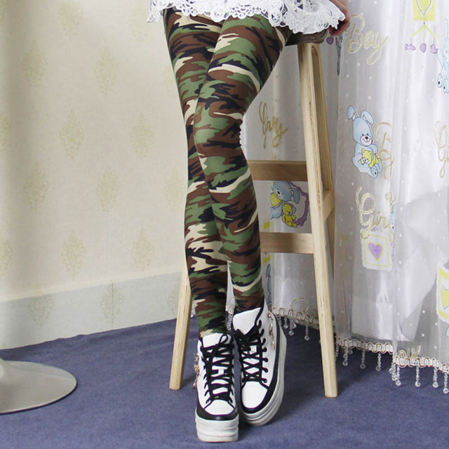 legins leggings for women Spring and Autumn cotton stretch printed camouflage leggings women legging jeggings female leggings