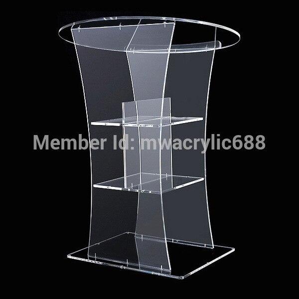 Pulpit Furniture Free Shipping Transparent Modern Design Cheap Clear Acrylic Lectern Acrylic Podiumt Plexiglass