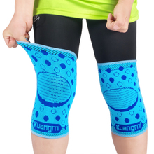 Kuangmi 1 pair children knee pads child game protector Elastic knee support kids cute Basketball Volleyball Cycling protection