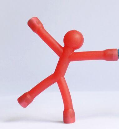 Одноцветные магниты на холодильник для мужчин Q-Man Qman для детей, новинка, научная игрушка, магнитная фигурка для офиса, холодильник, бумага, фото, зажим, наклейка - Цвет: red