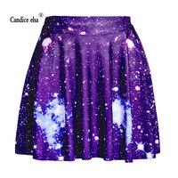 Candice Эльза женские юбки цифровая печать оптом фиолетовые звезды юбка Skt1099