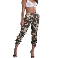 Women Fashion Camouflage Jogger Pants Harem Pants Pantalon Femme Trouser Ankle Length Sweatpants Camo Pants Pockets Streetwear