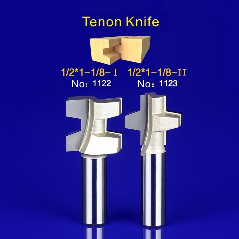 2Pcs Tongue & Groove Router Bit Set 1/2 Inch Shank Wood Milling Cutter door knife 1122-1123 2pcs tongue