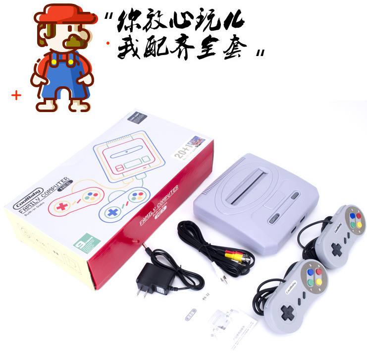 Retro Dual Controller 8 Bit TV Video Game Console For FC Classic Games Family TV Video Game Player Built In 400+ Games