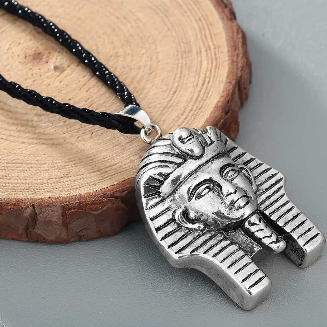 Kinitial อียิปต์ Queen สร้อยคอ Vintage เครื่องประดับ Amulet Falcon Kolovrat Cross จี้สร้อยคอแฟชั่น Bijoux colar