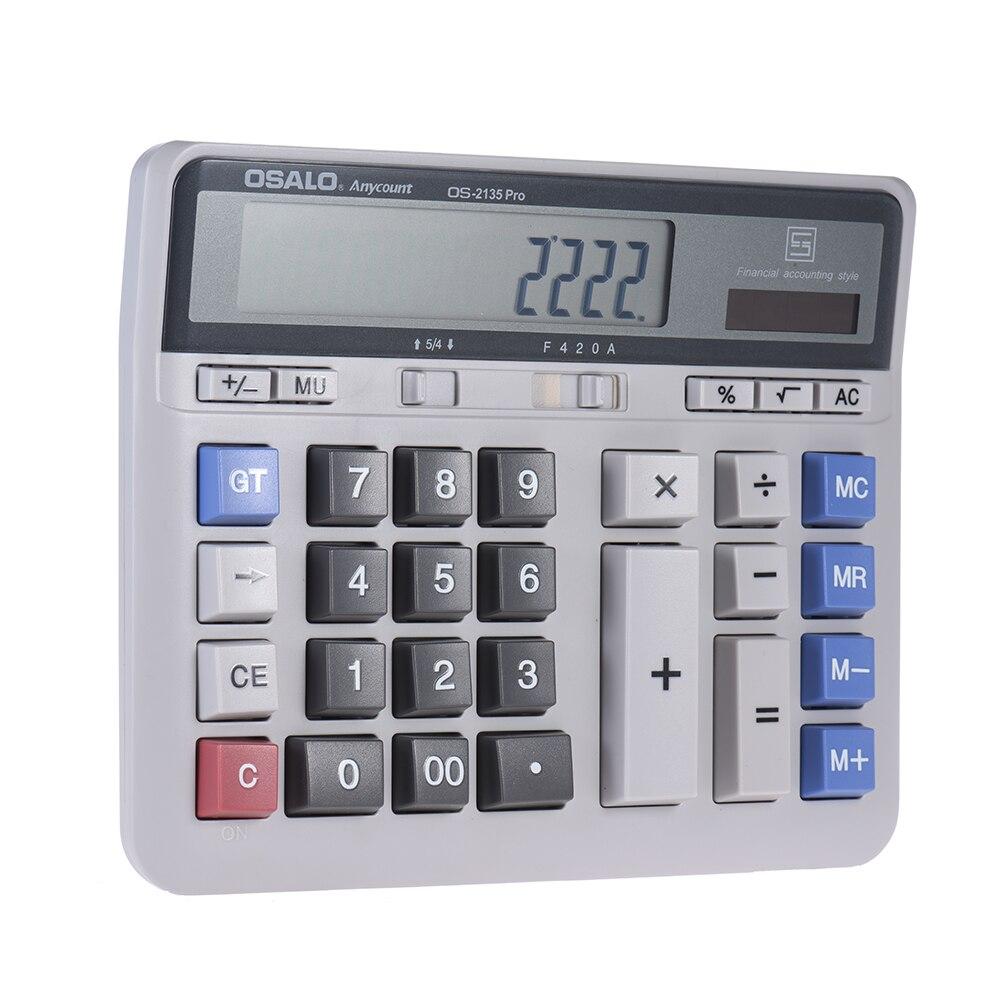 Большой компьютер электронный калькулятор Счетчик Солнечный Батарея Мощность 12 разрядный Дисплей многофункциональный большой кнопку шко...