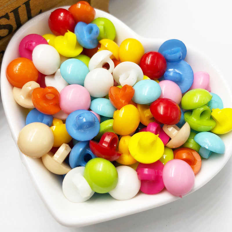 10/50/100pcs 10mm Mini Semicircle Plastic Buttons Sewing/Appliques/Baby Crafts Lots PT280