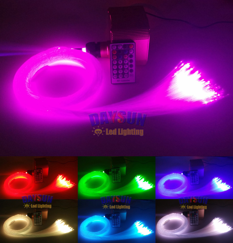 New hot diy ceiling light rgbw twinkle stars optic fiber light kit new hot diy ceiling light rgbw twinkle stars optic fiber light kit fiber cable 400pcs 2m hotel bedroom ktv spa decoration in ceiling lights from lights mozeypictures Image collections