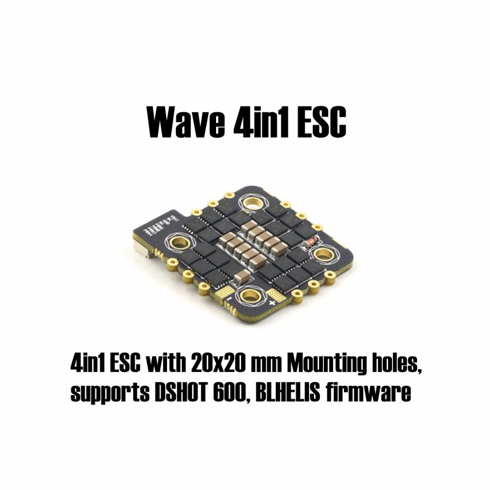 Best Tech Toys 2020 Buy Online Wave 4in1 ESC 4x18A 2020 HC with 20x20 mm Mounting