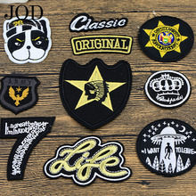 JOD Badge Dog Ironing Applications for Clothes Patches Punk Thermo Adhesive Bikers Sewing Embroidery Patch Tops Clothing