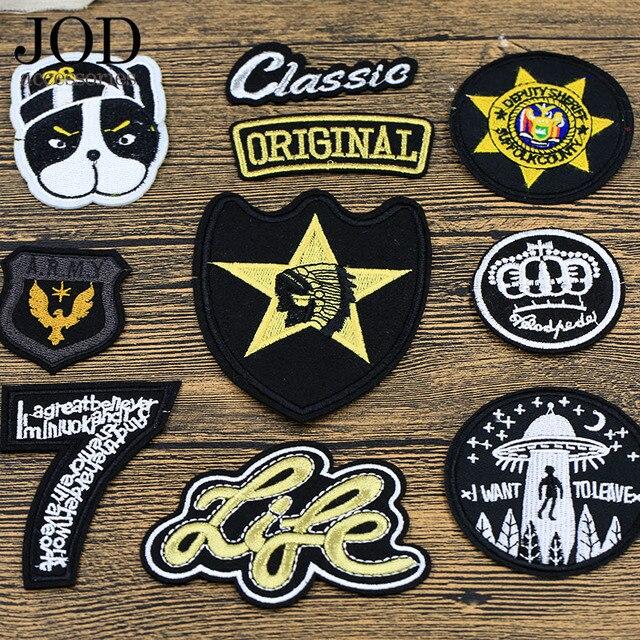JOD-Badge de repassage de chiens | Applications de repassage pour vêtements, Punk, thermoadhésifs, Patch de broderie pour vêtements de hauts