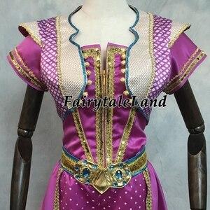 Image 5 - Aladdin Jasmine Cosplay Halloween Cosplay Filme Terno Fantasia Top Calças Roupa Da Princesa Rosa Vermelha