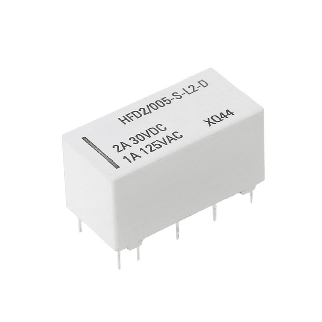 12V Coil Bistable Latching Relay DPDT 2A 30VDC 1A 125VAC HFD2/005-S-L2-D Realy Electrical Equipment & Supplies