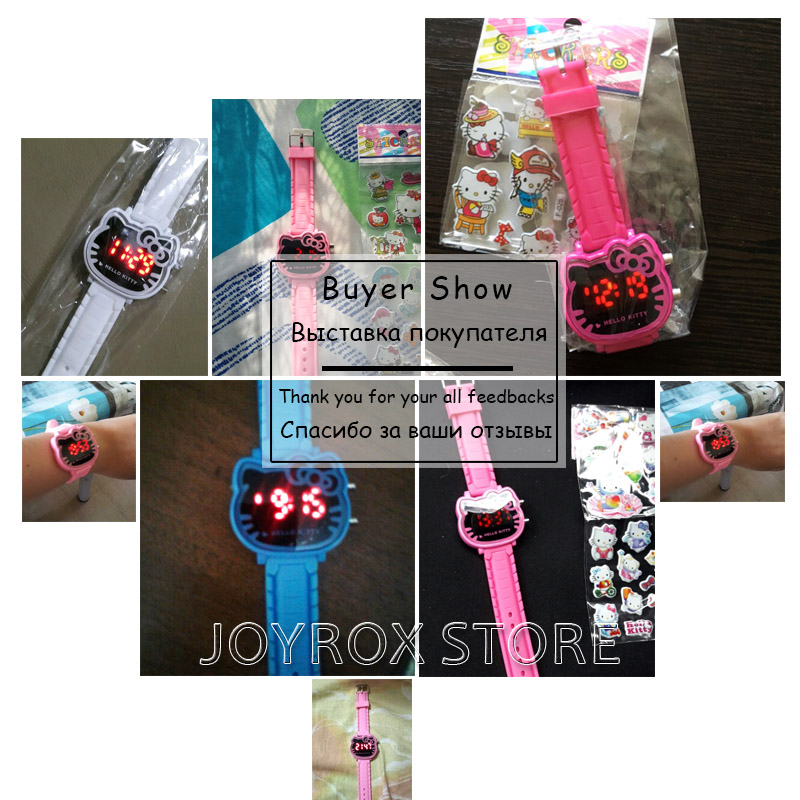 JOYROX Hot Hello Kitty LED Barneklokker 2018 Gummi Strap Child Watch - Barneklokker - Bilde 6