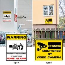 1 шт., водонепроницаемая домашняя камера видеонаблюдения, камера безопасности, домашняя сигнализация, Предупреждение ющая наклейка, знаки