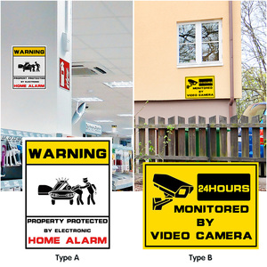 Image 1 - Waterproof Home CCTV Video Surveillance Security Camera Security Home Alarm Sticker Warning Decal Signs