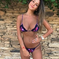 2018 Venus Vacation New Style Print Swimwear Sexy Women Bikini Set Summer Swimsuit Brazilian Biquini Push