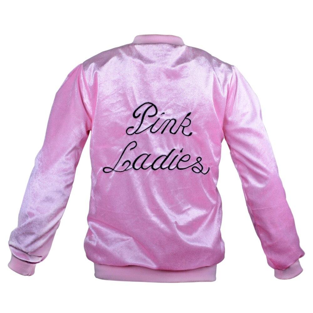 De grasa Rosa señoras chaqueta de terciopelo chaqueta de bombardero ...