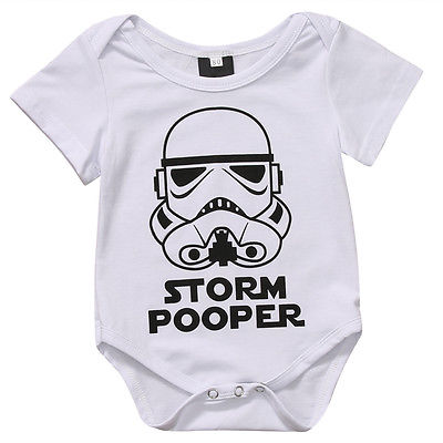 Summe 2017 Toddler Baby Girls Boys Storm Pooper   Romper   Jumpsuit Short Sleeve Storm pooper Sunsuit 0-18M