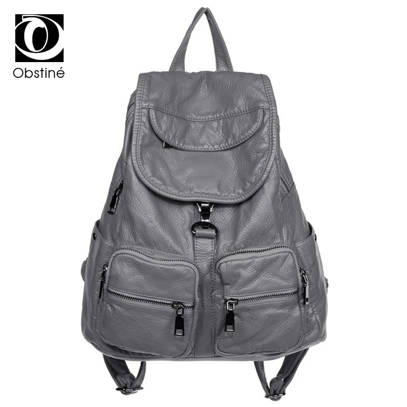 Soft Washed Leather Backpack For Girls Waterproof High Quality Vintage Backpacks Women Large Multifunctional Cool Bagpack Womens